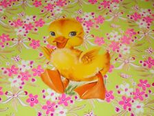 "Vtg Easter Dennison Cardboard Decoration Die Cut Duck 7.5"" Cute #I"