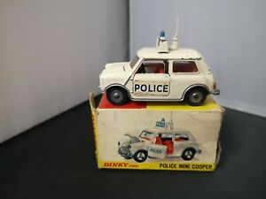 T278-DINKY TOYS No250 POLICE MINI COOPER WITH ORIGINAL BOX