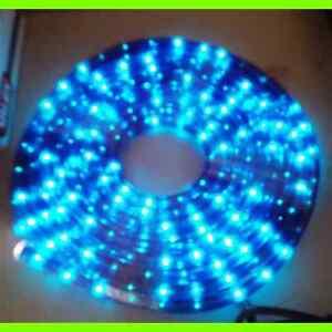 STRISCIA LUCE ESTERNO NATALE BALCONE LED BLU 10 metri