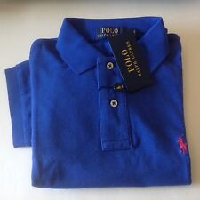POLO Ralph Lauren MEN Classic-Fit Mesh Polo Shirt short sleeve Bright Royal M