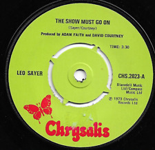 LEO SAYER = THE SHOW MUST GO ON / TOMORROW - 70s POP ROCK VOCAL - 1973 - 4-prong