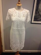 WOMENS LOVELY QUALITY NEXT SUMMER TAILORED LACE DRESS SIZE 18 FULL LINED BNWT£48