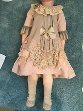 Vintage doll dress made with Antique Materials for German / French 23