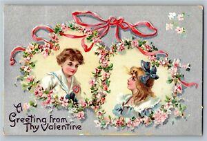 Tucks 2664 A Greeting from Thy Valentine Vintage Postcard X37