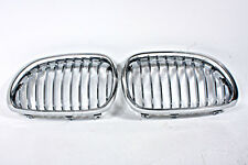 Front Grill Central Grille SET Chrome Fits BMW 5-Series E60 2004-2008