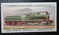 Che Kiang Railway China    Steam Locomotive   Original 1913 Vintage Card