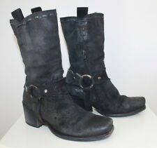 DMN suede western boots women Eur 35 US-Aus 4.5 from Italy USED