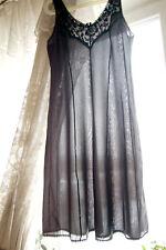 Vintage Ultra Sheer Polyamid Nylon Black Elegant Slip Nightgown L