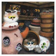 Potting Shed Funny Cat Greeting Card Tamsin Lord Humorous Greetings Cards Blank
