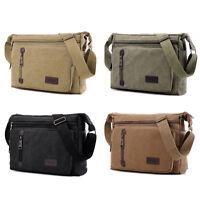 Men's Military Canvas Satchel School Shoulder Messenger Bag Vintage Crossbody