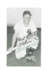 Nellie Fox Chicago White Sox Baseball HOFer Autographed McCarthy Postcard JSA