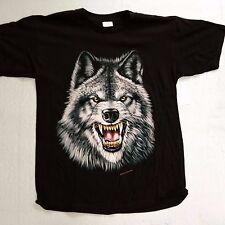 Brazo's Sportswear, Vicious Wolf Adult T-Shirt (Large) New
