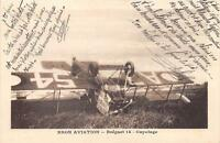 CPA 69 BRON AVIATION BREGUET 14 CAPOTAGE (cliché pas courant ACCIDENT