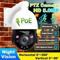 Hikvision Compatiable 5.0MP HD AI Auto Tracking POE IP PTZ Dome Camera 30X Zoom