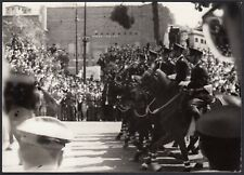 YZ3017 Roma - Festa Repubblica - Militari a Cavallo - Foto d'epoca - 1960 photo