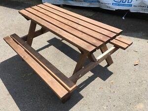 Wooden Picnic Table Bench Pub Garden Outdoor