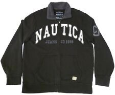 Nautica Jeans Co Reproduction Mens Large Brown Jacket Fleece Lined Collar
