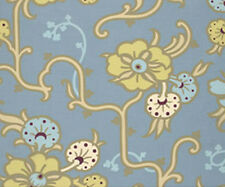 Blue Floral Vines Stainless Amy Butler Quilt Fabric 1 yard EOB