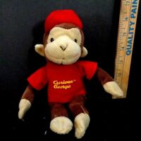 Curious George Monkey In Red T Shirt Hat Plush Stuffed Animal Toy Doll