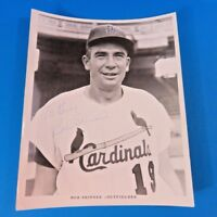 BOB SKINNER SIGNED 8x10 ST LOUIS CARDINALS PROMO PHOTO ~ BASEBALL AUTOGRAPH