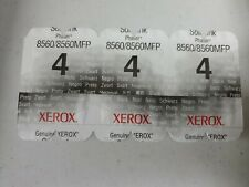 3x Xerox Phaser 8560 8560MFP Black SOLID INK STICK 108R00726 Genuine OEM