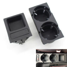 For BMW E46 Black Front Console Drink Cup Holder & Coin Box 51168217953/957