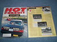 "1993 CHP California Highway Patrol Ride Along Article 'Hot Pursuit"" SSP Mustang"