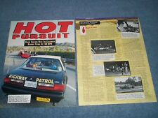 "1993 CHP California Highway Patrol Ride Along Article 'Hot Pursuit"" SSP Mustang"