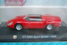 #1/43 HACHETTE FIAT ABARTH OT 2000 SPORT SPIDER 1966 NEUVE EN BOITE BLISTER