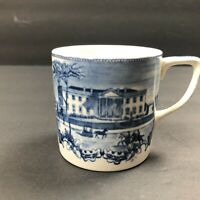 Johnson Bros England Expresso Tea Cup White House North Face Blue White