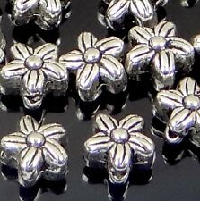25 Antique Silver Pewter Flower Spacer 6x5mm Beads