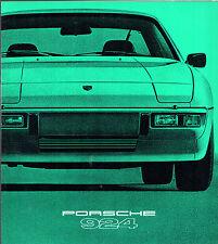 Porsche 924 1978-79 UK Market Sales Brochure