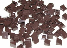 Lego Lot of 100 New Dark Brown Slopes 30 1 x 1 x 2/3 Sloped Parts