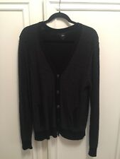 Gap cardigan sweater  oversized Small black grey buttons great condition unisex