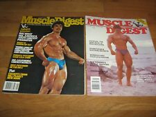 2 Lot MUSCLE DIGEST bodybuilding magazine/RORY LEIDELMEYER w/posters 1979+1982