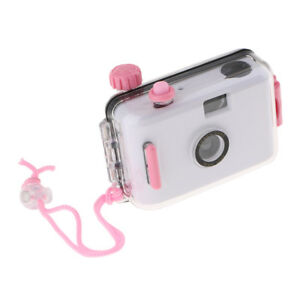 Waterproof Lomo 35mm Film Camera with Case, 16ft Underwater, Reusable, White