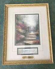 "Beautiful Thomas Kinkade ""Garden of Promise"" Gold Framed Accent Art Print w/COA"
