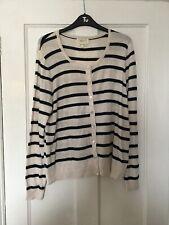 Next Size Uk 18 Beige Stripe Cardigan.   (c9)