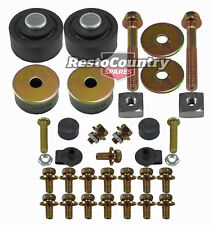 Radiator Support Mount Kit HQ HJ HX HZ WB Bush + Bolts + Bonnet Adjuster NEW