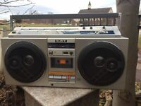 Vintage Sony CFS-77 Boombox Stereo Cassette Corder 4 Bands Ghetto Blaster Radio