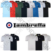 Lambretta polo shirt Classic Short Sleeve Polo Tee T Shirts Sizes S to 4XL