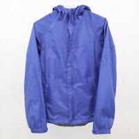 Koppen Rain Windbreaker Jacket Coat Womens S Small Blue Hooded Lightweight