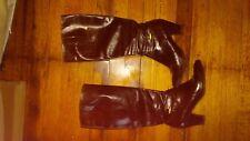 Salvatore Ferragamo boots 6 B dark brown coffee