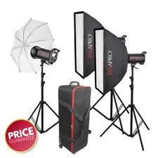 1800Ws Studio Flash Lighting Kit QS600II Graduation Photo School Portrait Beauty