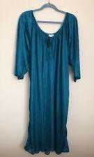 Cw Classics Women's Teal Semi Sheer Night Gown Size 4X New