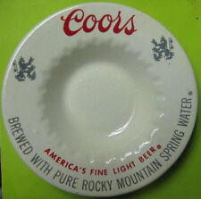 COORS BEER vintage Ceramic 6 inch ASHTRAY, Rocky Mountain Spring Water, COLORADO