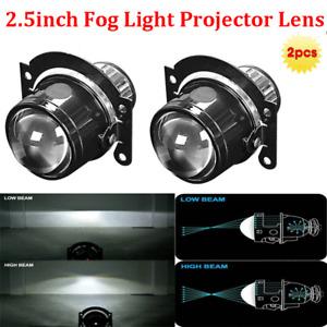 2.5inch HID Bi-xenon Fog Light Projector Lens Hi/Lo Kit H11 Xenon Lamp Universal