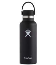 Hydro Flask Standard Mouth Water Bottle, Flex Cap-Black