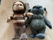 """2 x WHERE THE WILD THINGS ARE 12"""" Plush SOFT TOYS New Tags"""