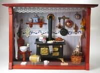 Reutter Porzellan Wandbild Display Zwiebel - Küche Puppenstube 1:12 Herd
